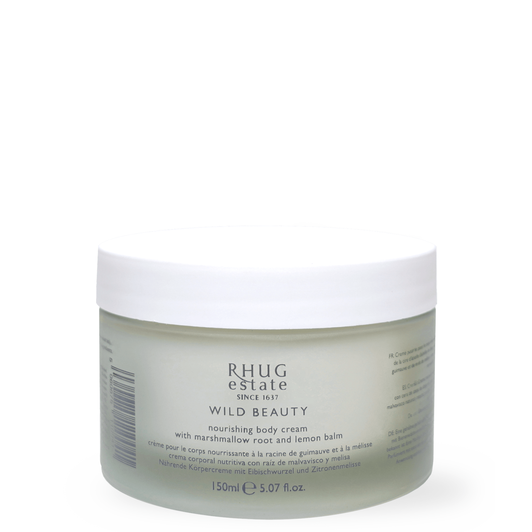 Nourishing Body Cream with Marshmallow Root and Lemon Balm by Rhug Wild Beauty