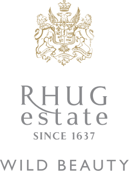 Rhug Wild Beauty Gold Grey Logo Crest